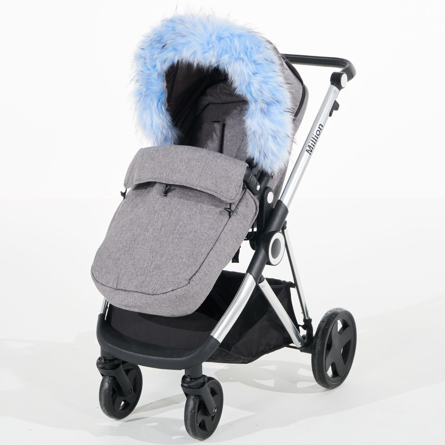 Pram Fur Hood Trim Attachment For Pushchair Compatible with Orbit Baby