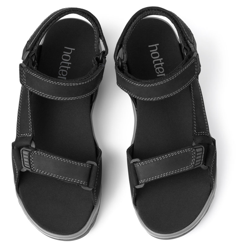 Hotter Men/'s Agile Sandal Waxed Nubuck Touch fastening Adult Sandals Casual