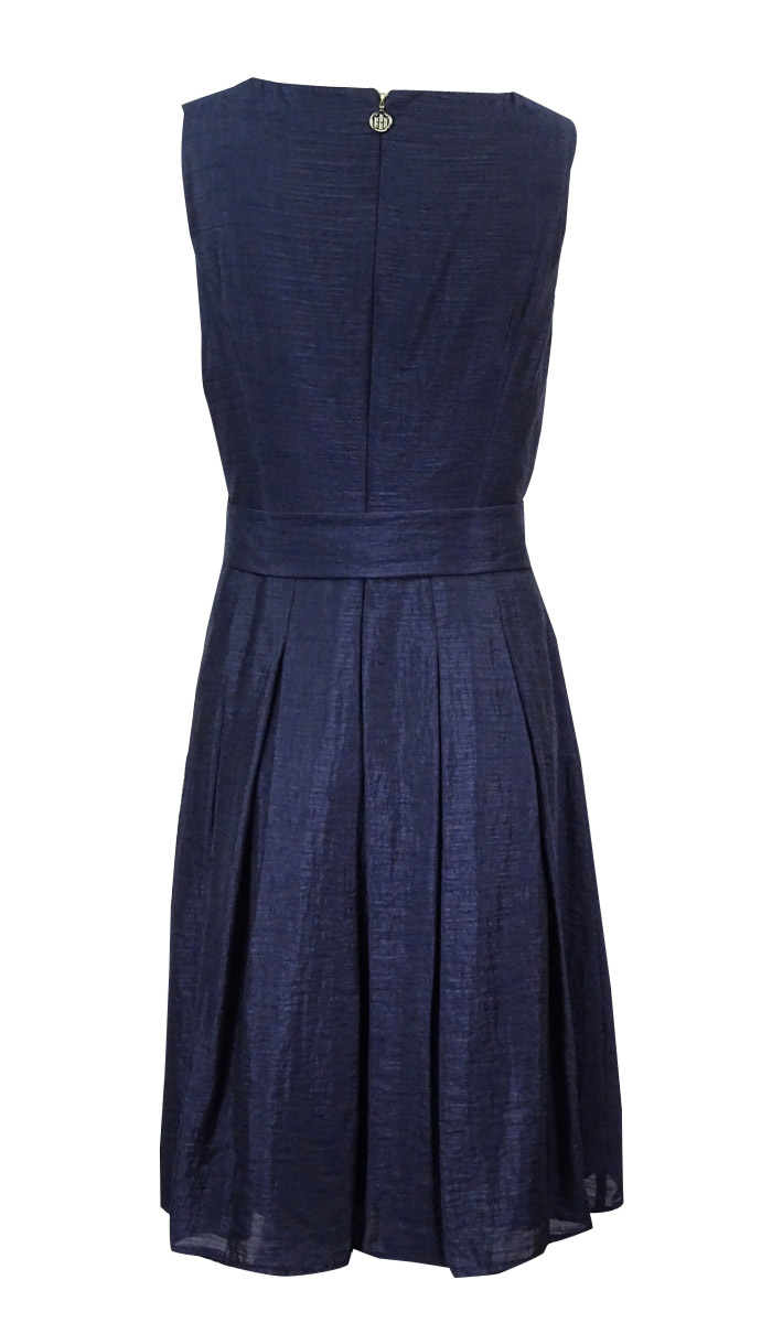 Tommy Hilfiger Women/'s Belted Sleeveless Pleated Dress