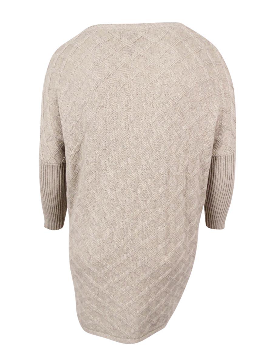 Style /& Co Women/'s Plus Size Cable-Hem Sweater