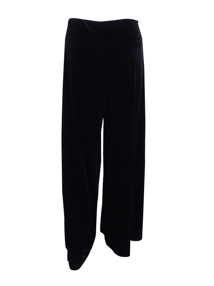 MSK Women/'s  Velvet Casual Pants L, Black