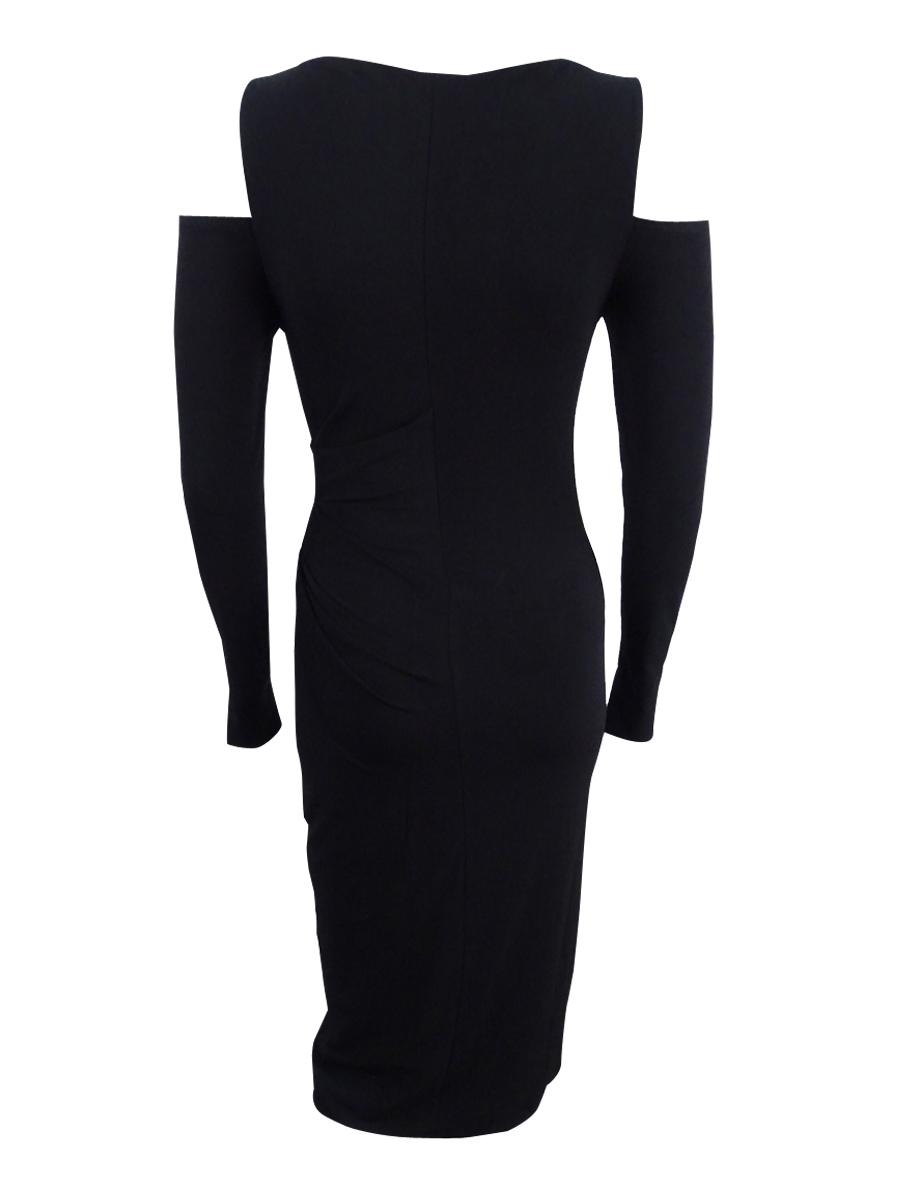 Rachel Rachel Roy Women/'s Cold-Shoulder Midi Dress