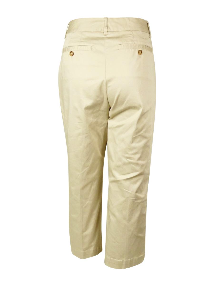 Charter Club Women/'s Flat Front Capri Pants