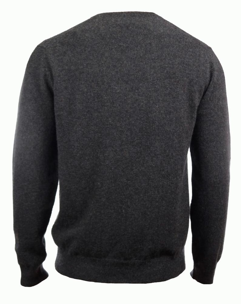 Men/'s 100/% Cashmere Solid V-Neck Sweater