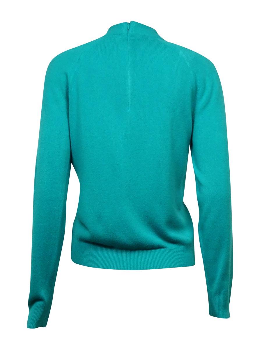Karen Scott Women/'s Semi Zipped Mock Turtleneck Sweater