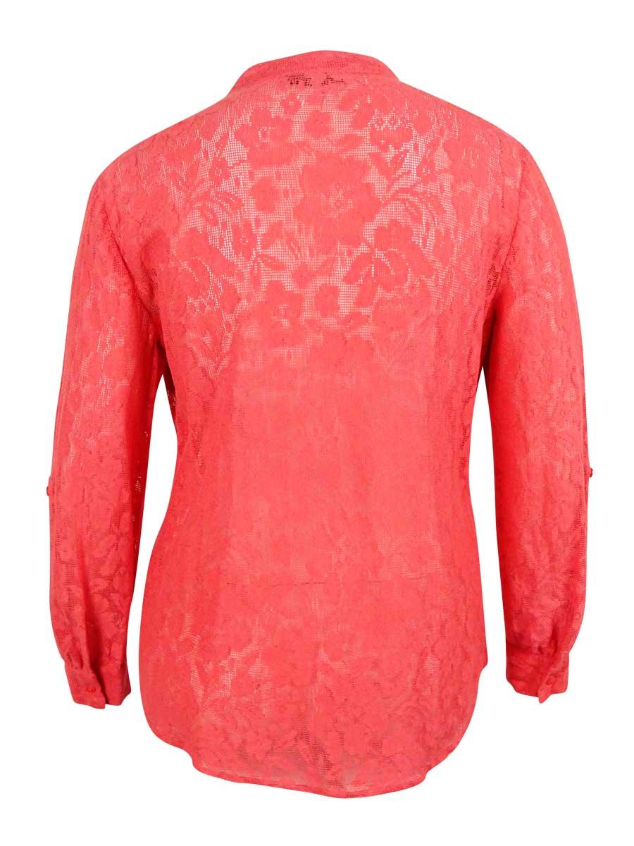 Style /& Co Women/'s Tab Sleeve Pintucked Top