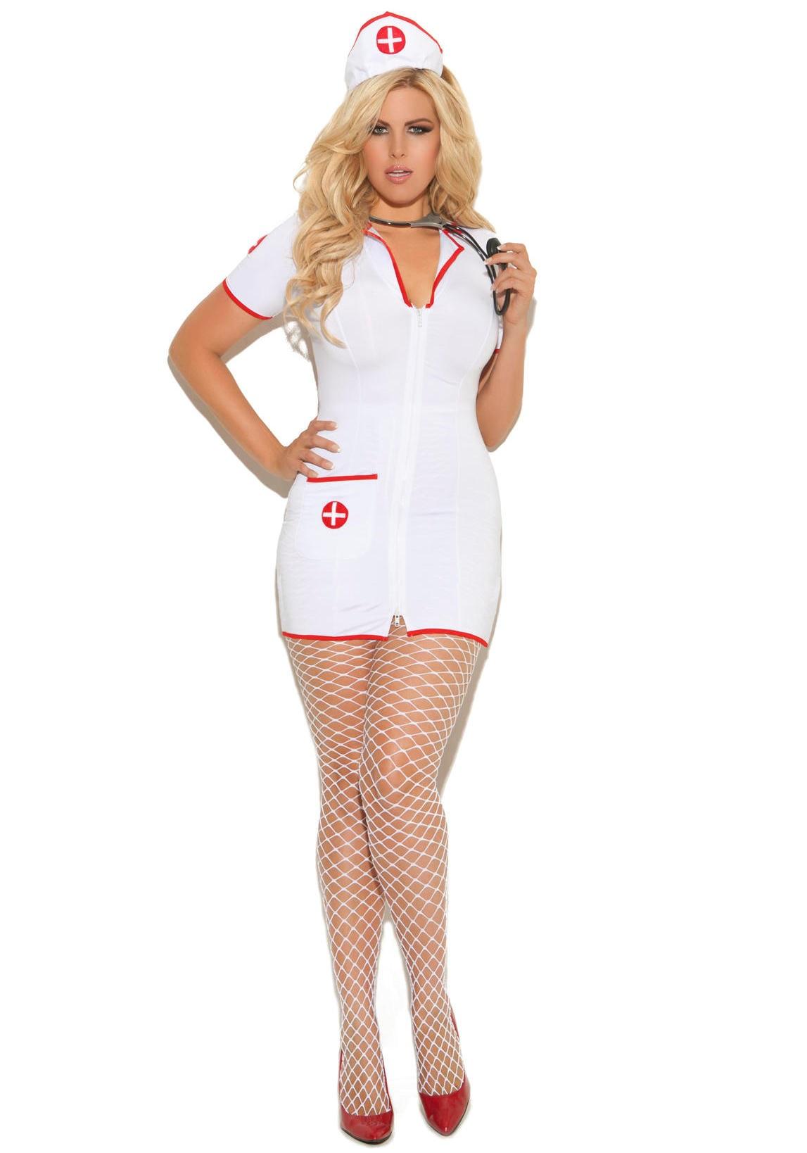 Plus Size Lingerie 1X 2X 3X 4X Naughty Head Nurse Dress SEXY ...