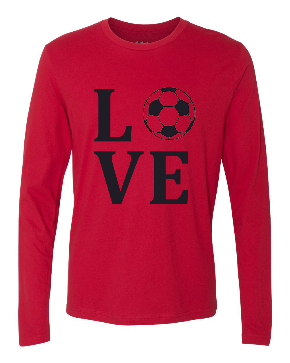 Love soccer sports jersey mens long sleeve t shirt for I love sports t shirt