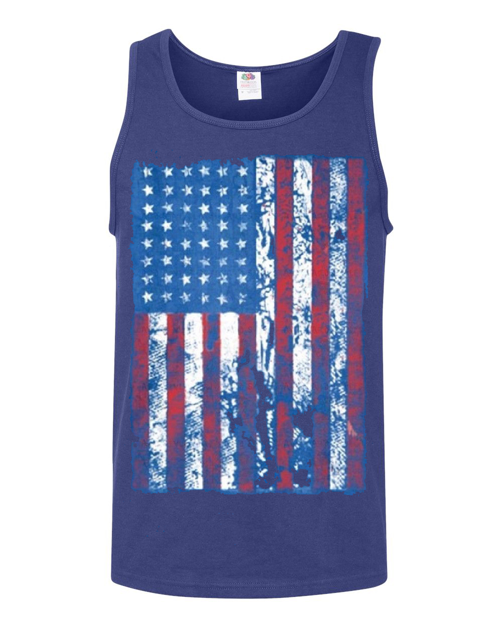 distressed american flag usa patriotic clothing mens tank