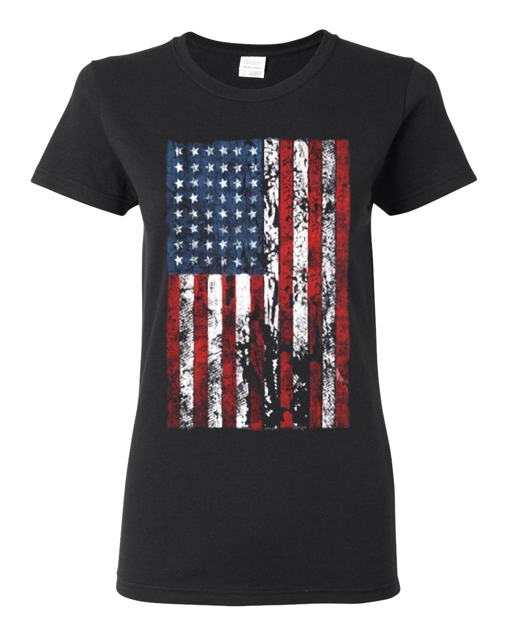 distressed american flag usa patriotic clothing womens top