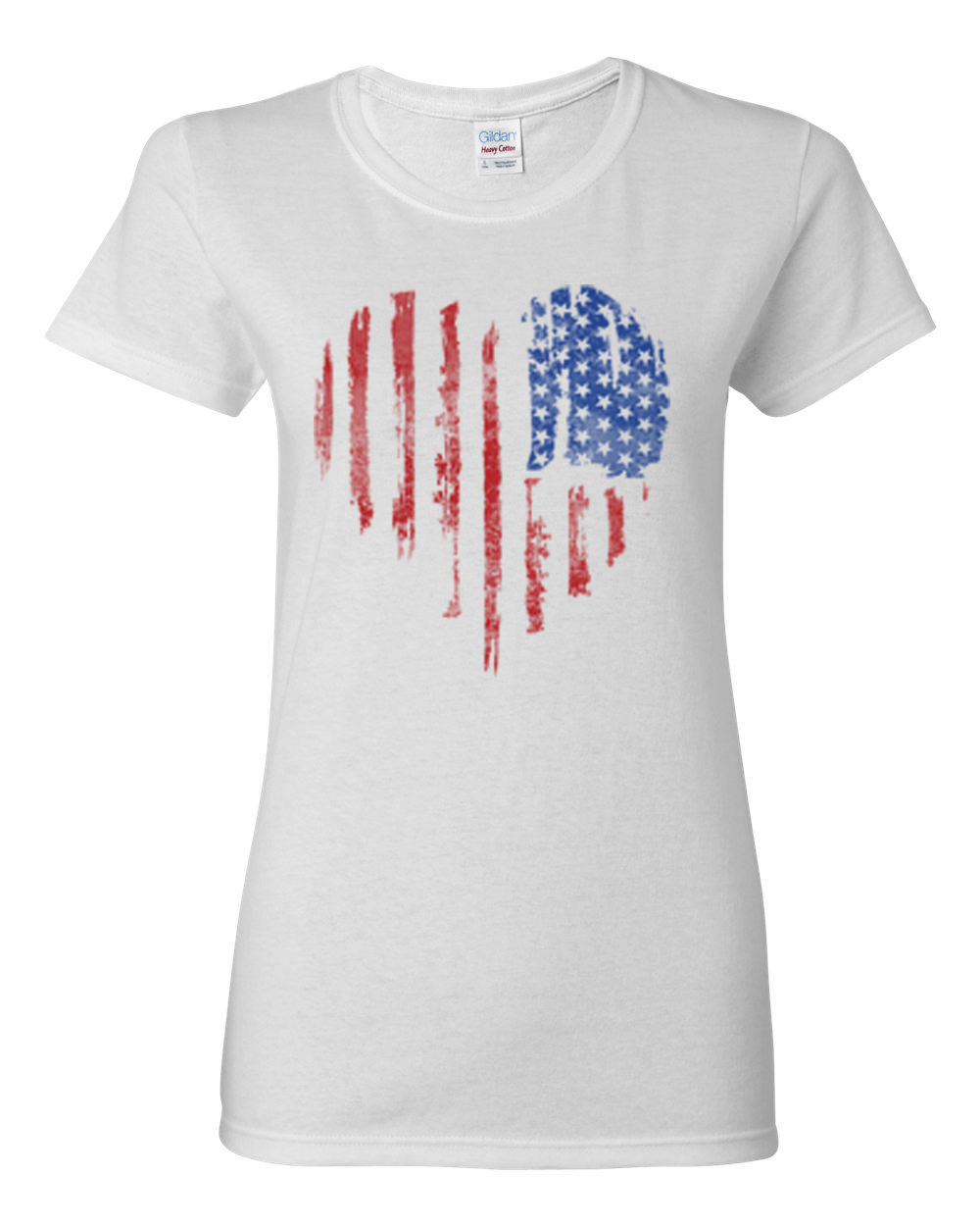 Distressed American Flag Heart Usa Patriotic Clothing