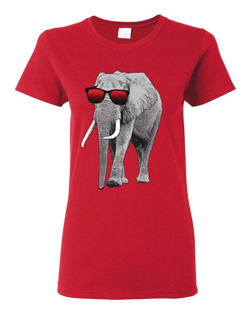 Elephant wearing sunglasses trending womens t shirt ebay for Elephant t shirt women s