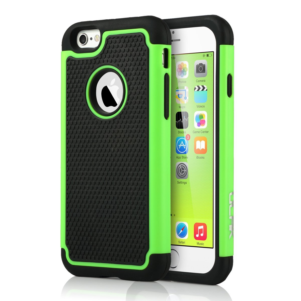 rugged rubber hard shockproof cover case for apple iphone. Black Bedroom Furniture Sets. Home Design Ideas
