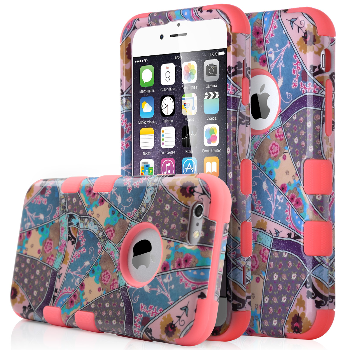 """Shockproof Hybrid Rugged Rubber Hard Cover Case for iPhone 6 4.7"""" / 6 Plus 5.5"""""""