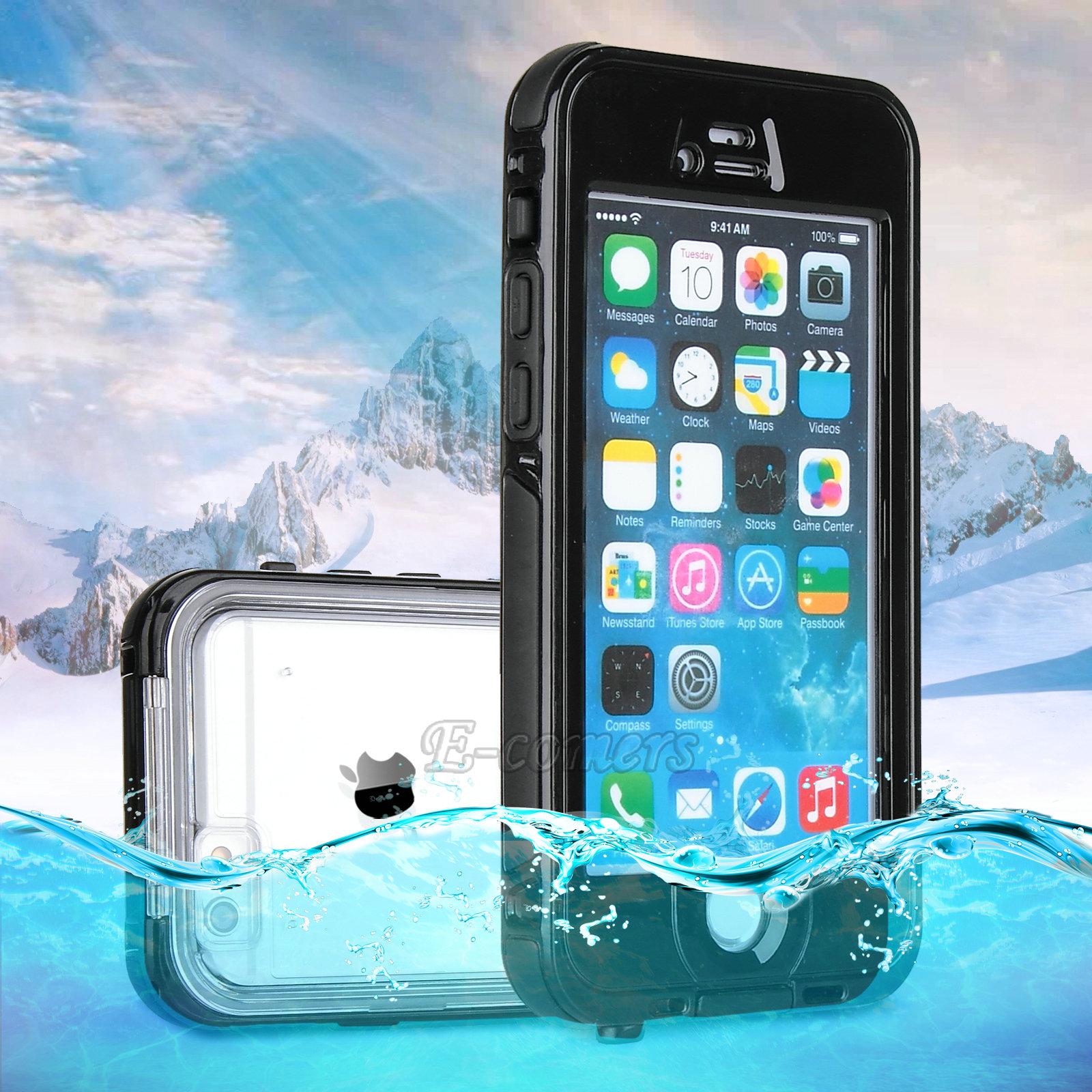 """WATERPROOF SHOCKPROOF DIRTPROOF CASE COVER FOR APPLE IPHONE 6 4.7"""" & 6 PLUS 5.5"""""""