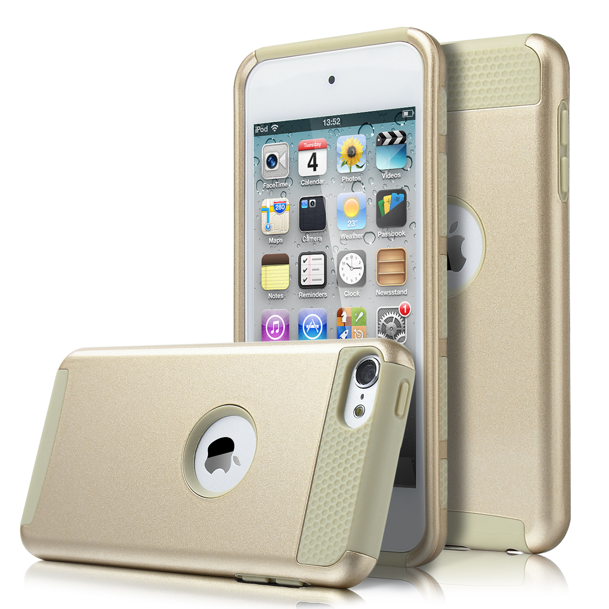 for ipod touch 6th 5th gen hybrid 2 piece hard soft rubber. Black Bedroom Furniture Sets. Home Design Ideas