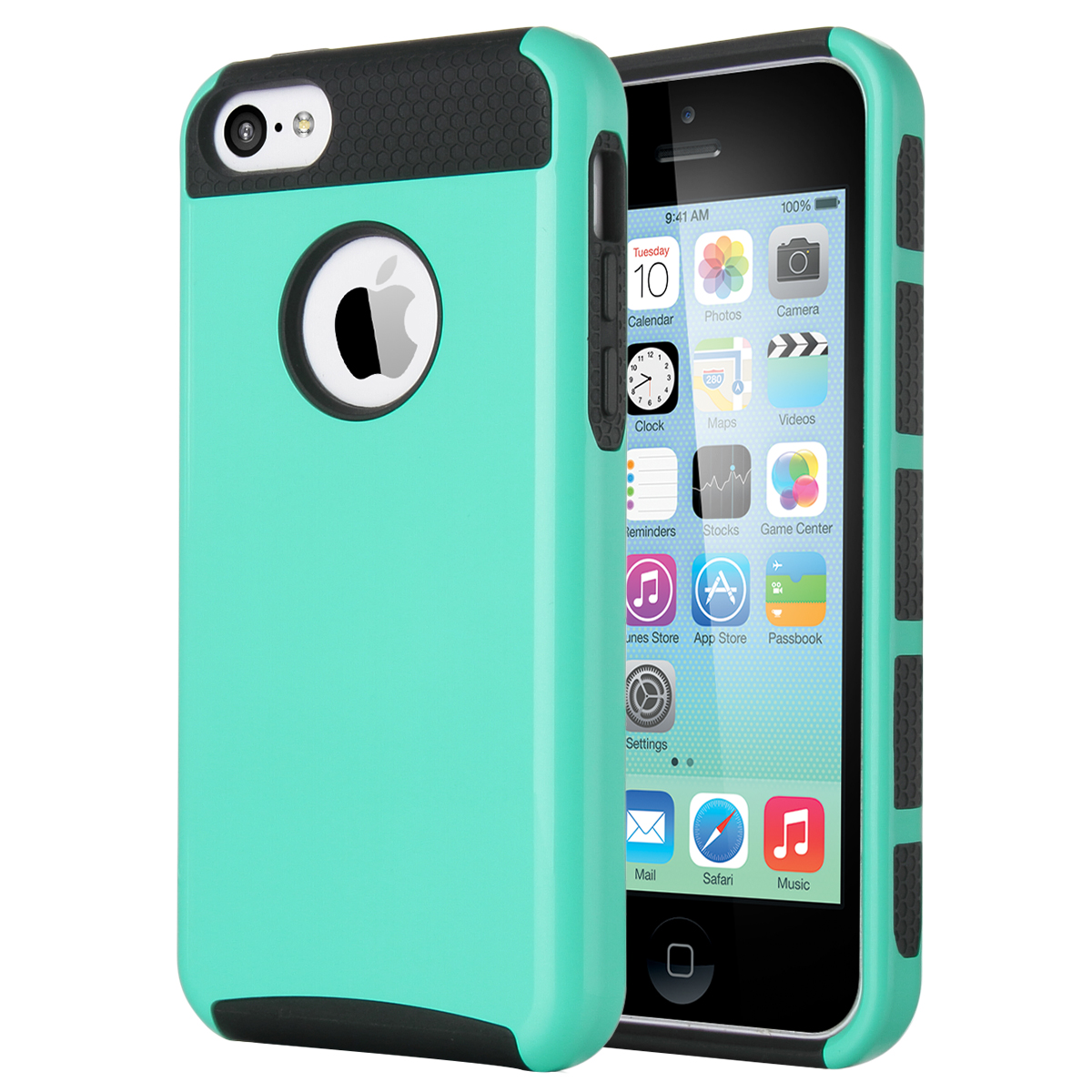 For Apple Iphone 5c Heavy Duty Hybrid Shockproof Rugged