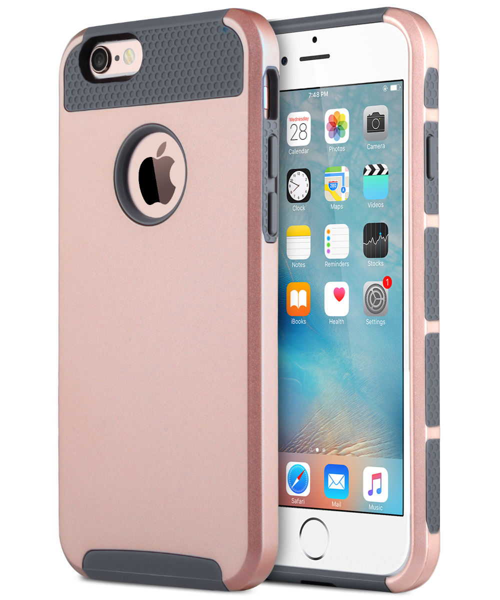 for apple iphone 6s plus case hybrid hard heavy duty rubber iphone 6 plus cover ebay. Black Bedroom Furniture Sets. Home Design Ideas