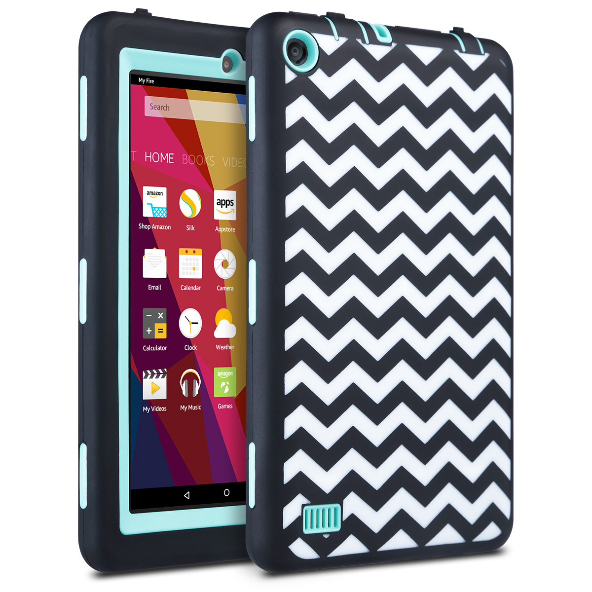 For Amazon Fire 7 Tablet 2015 Wave Shockproof Rugged