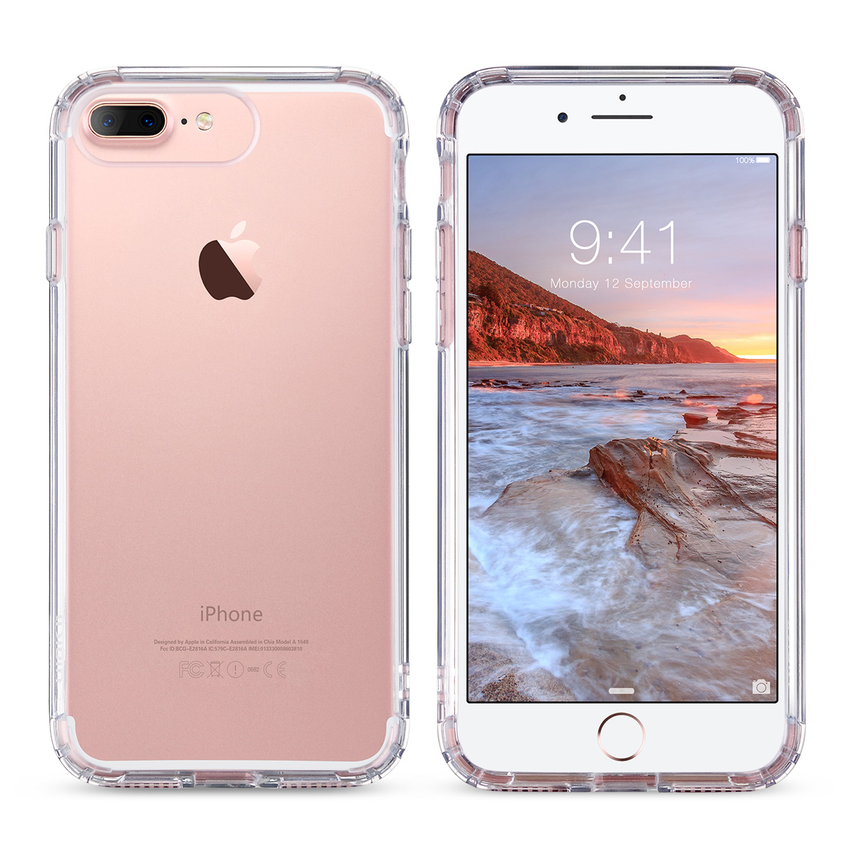 for apple iphone 7 7 plus slim crystal rubber tpu hard case skin clear rose gold ebay. Black Bedroom Furniture Sets. Home Design Ideas