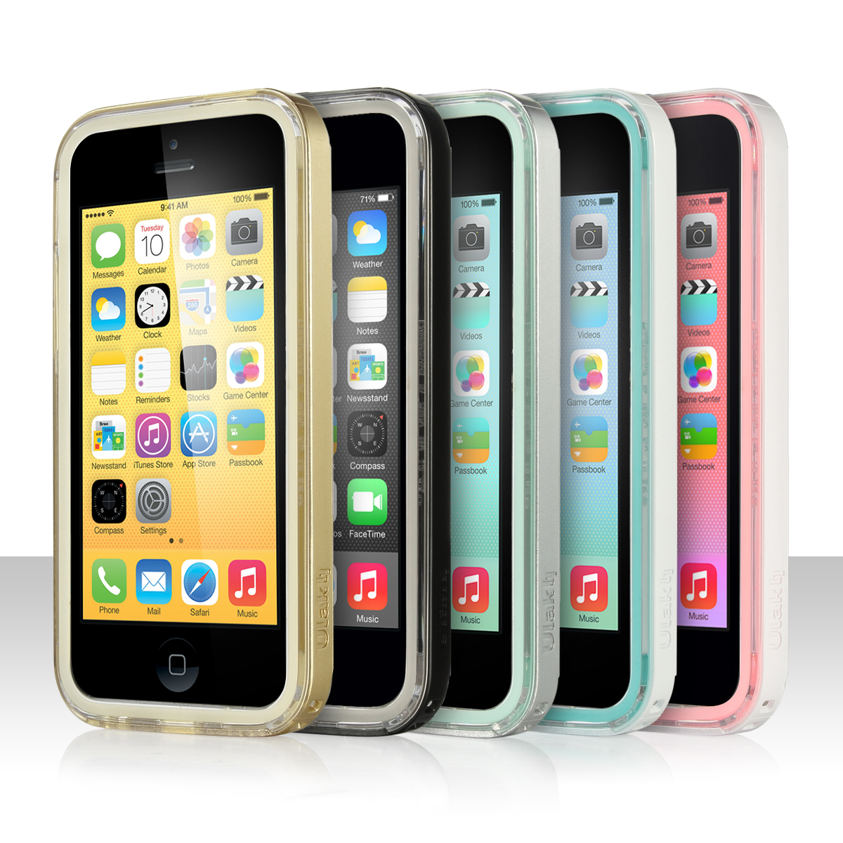 For Apple Iphone 5c Heavy Duty Hybrid Clear Hard Case