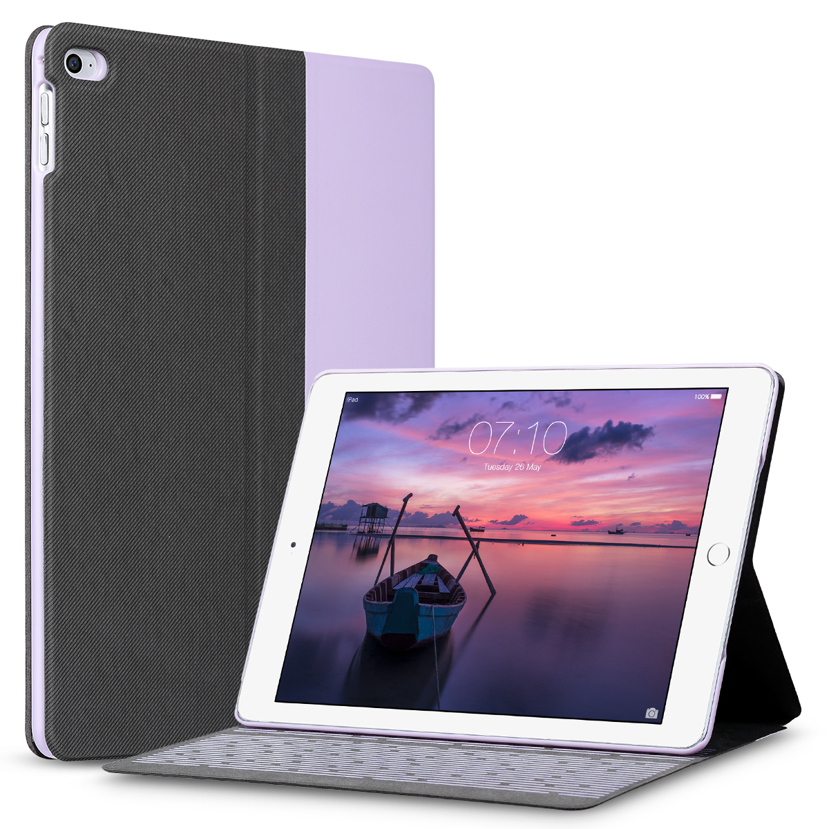 Flip leather smart case cover auto wake sleep protector - Smart case ipad air ...
