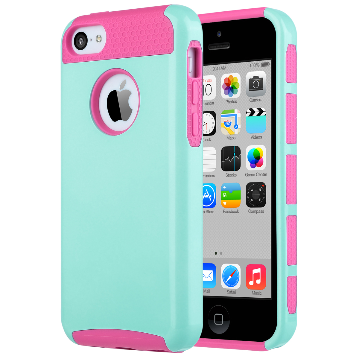 For Apple iPhone 5C Heavy Duty Hybrid Shockproof Rugged Hard Case Cover