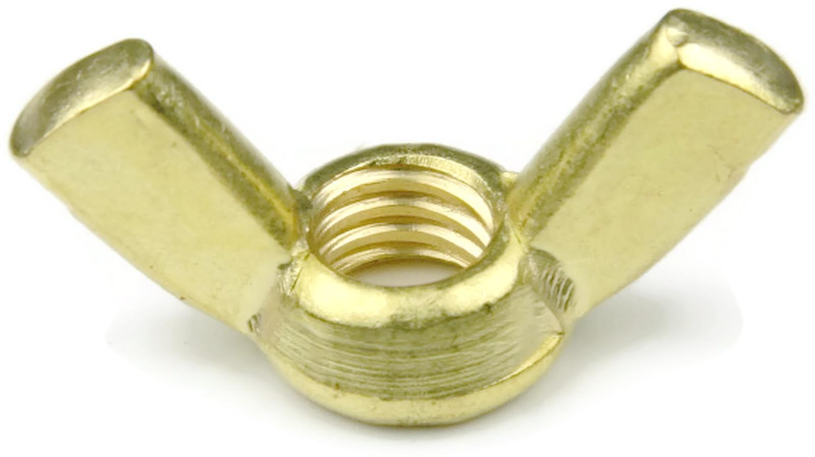 Brass Wing Nut Unc 1 4 20 Qty 25 Ebay