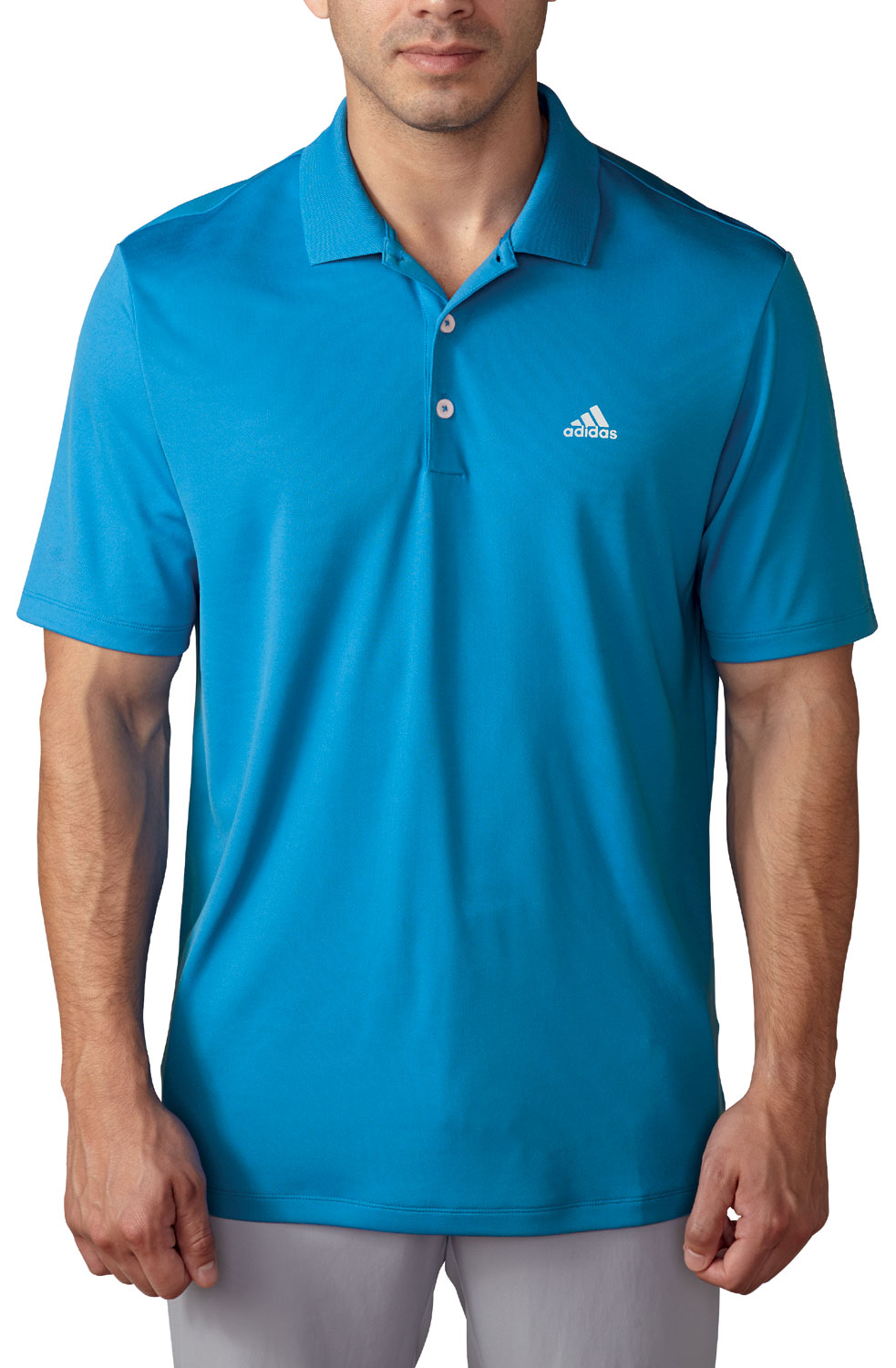 Adidas Branded Performance Polo Golf Shirt Mens Closeout
