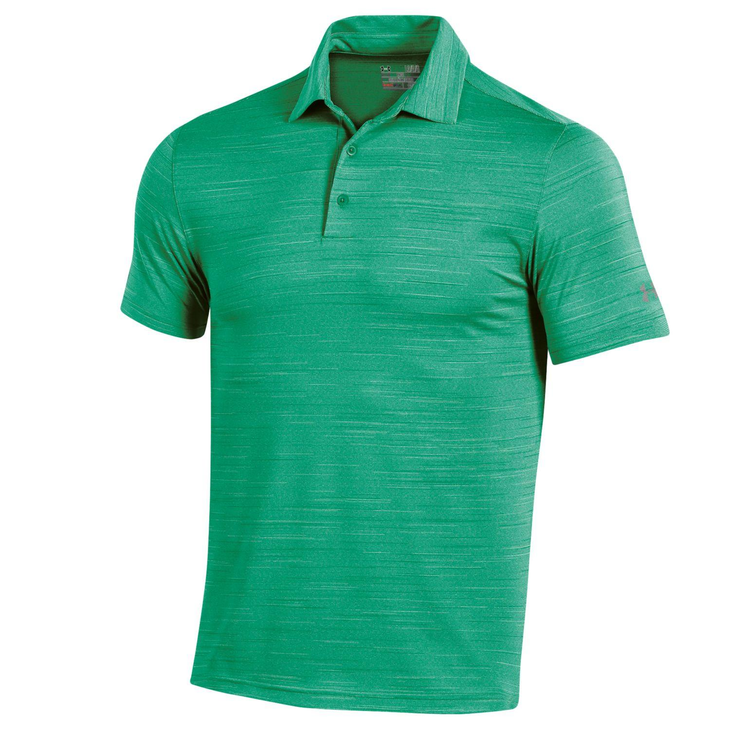 Under Armour Elevated Heather Polo Golf Shirt Mens New ...