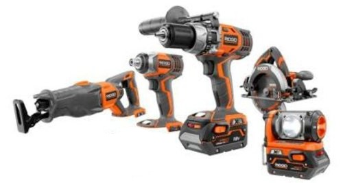 Ridgid Certified Factory Reconditioned  ZRR9651 R9651 18v 18 volt Hyper Lithium Ion X4 5 piece cordless combo Kit at Sears.com