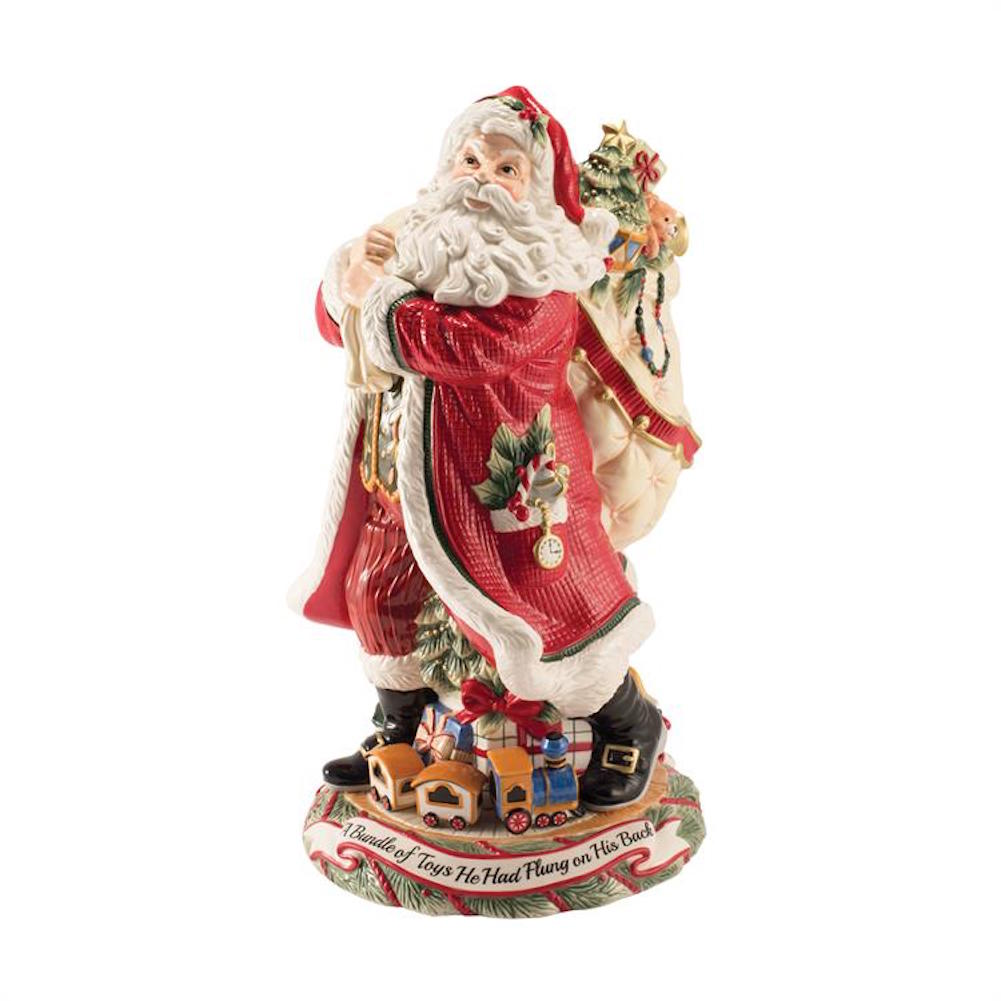 Fitz and floyd night before christmas santa vase ebay