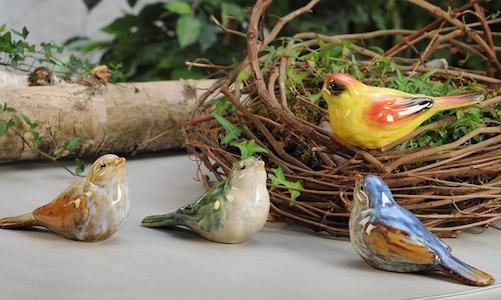 giftcraft home decor porcelain birds set of 4 figurine