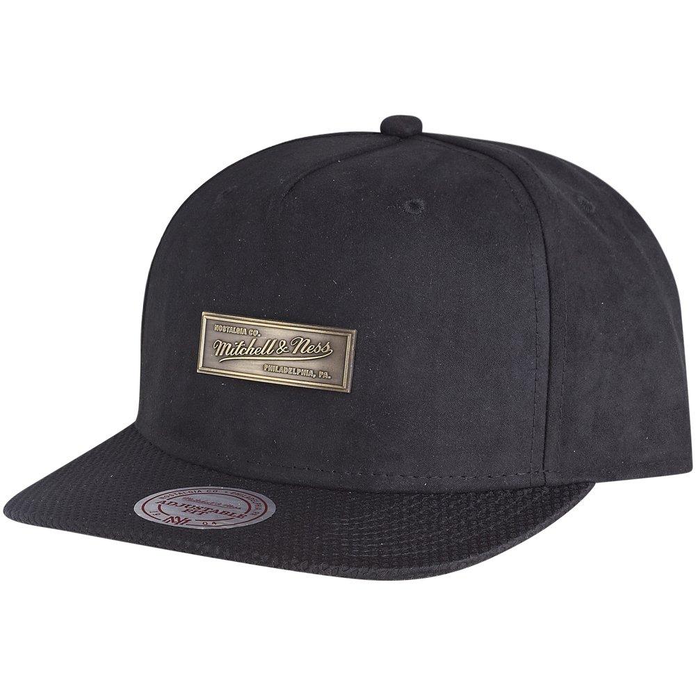 mitchell ness snapback cap netz metal badge schwarz ebay. Black Bedroom Furniture Sets. Home Design Ideas