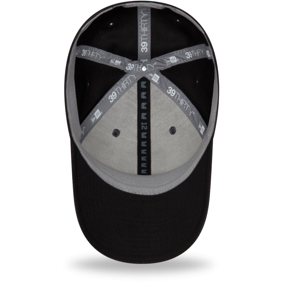 NFL Black Sideline Away New Era 39Thirty Stretch Cap