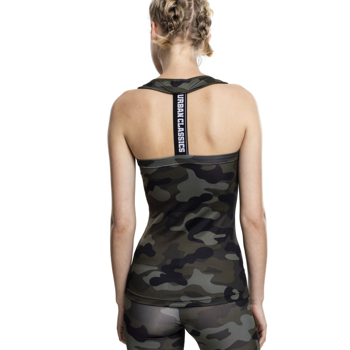 SPORTS Fitness Tank Top army camo Urban Classics Ladies