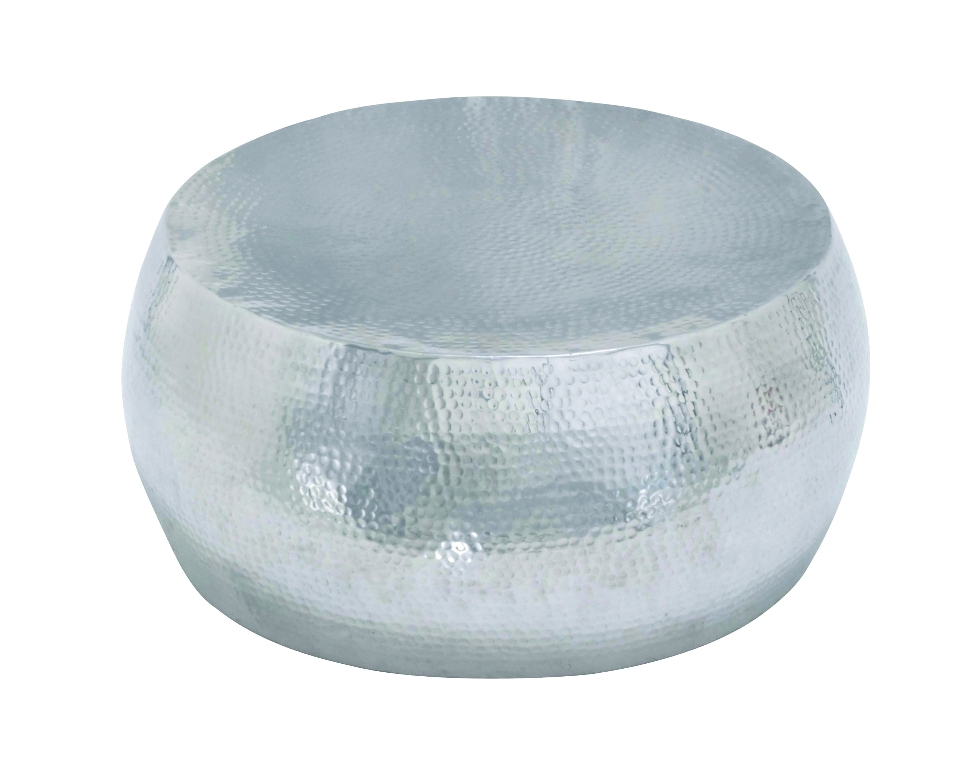 Round Solid Coffee Table Shiny Hammered Home Furniture D Cor 23912 Ebay