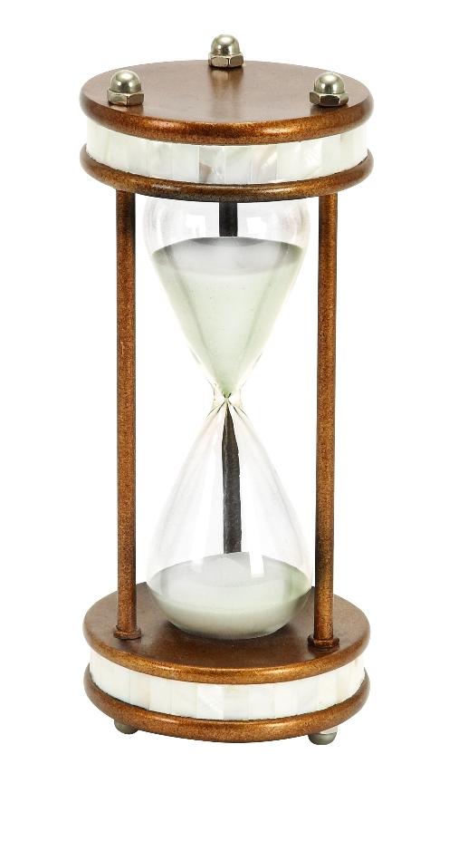 Benzara Woodland Woodland 58159 60 min hour glass nautical ship sand timer metal 13
