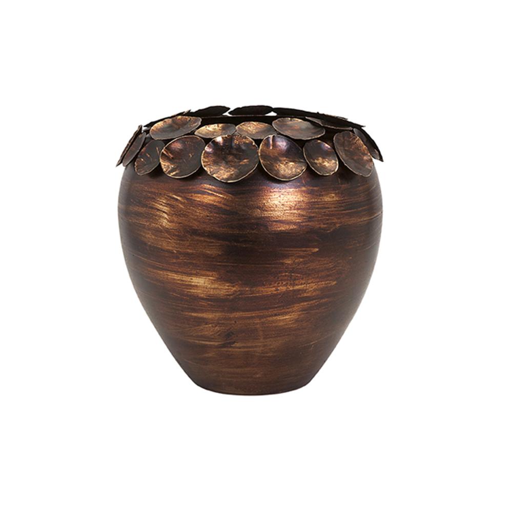 Imax Contemporary Copper Ethan Copper Leaf Vase - Small Home Accent Decor Imax 83600 at Sears.com