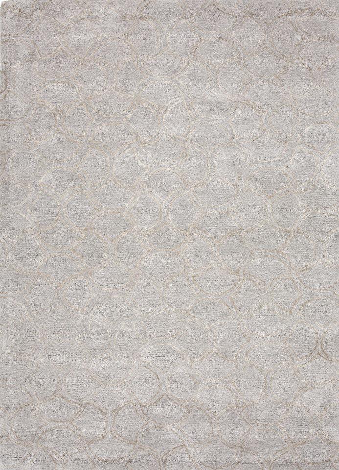 Jaipur Rugs Jaipur BQ07 Hand-Tufted Tone-on-Tone Wool/ Art Silk Blue/Gray Area Rug ( 5x8 )
