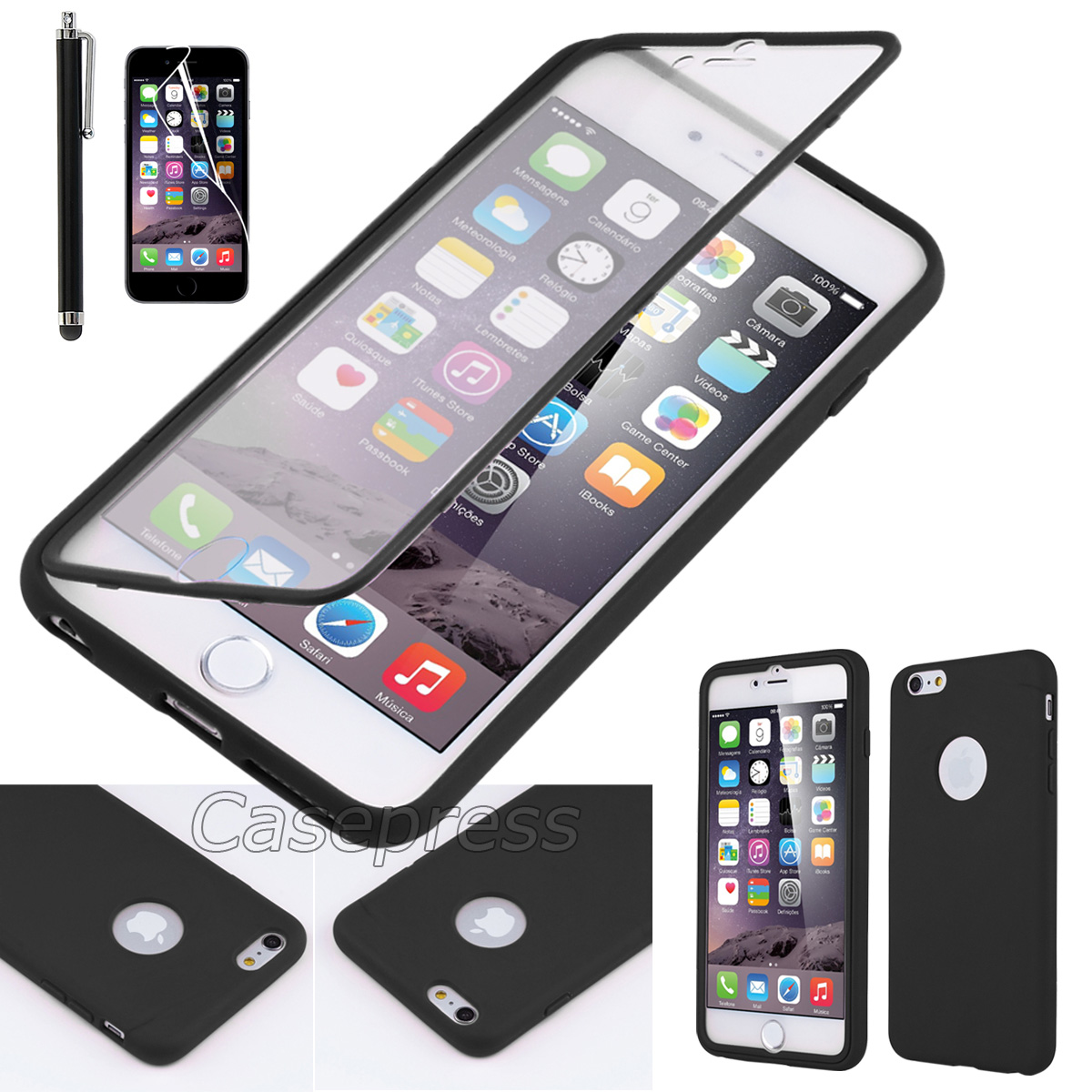 """New Shockproof Rugged Hybrid Rubber Hard Cover Case For iPhone 6 4.7""""/5.5"""" Plus"""