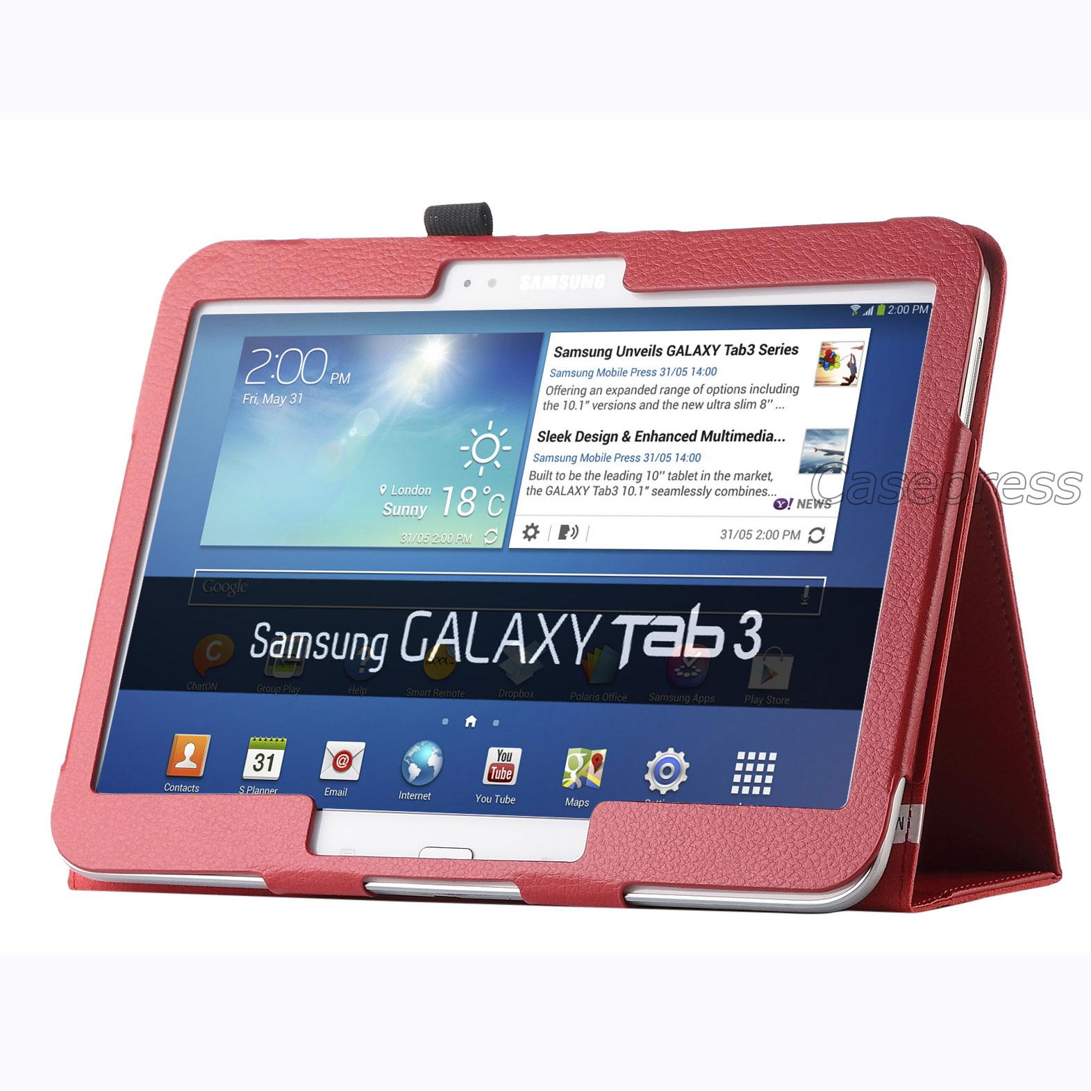 Folio PU Leather Case Cover For Samsung Galaxy Tab 3 101