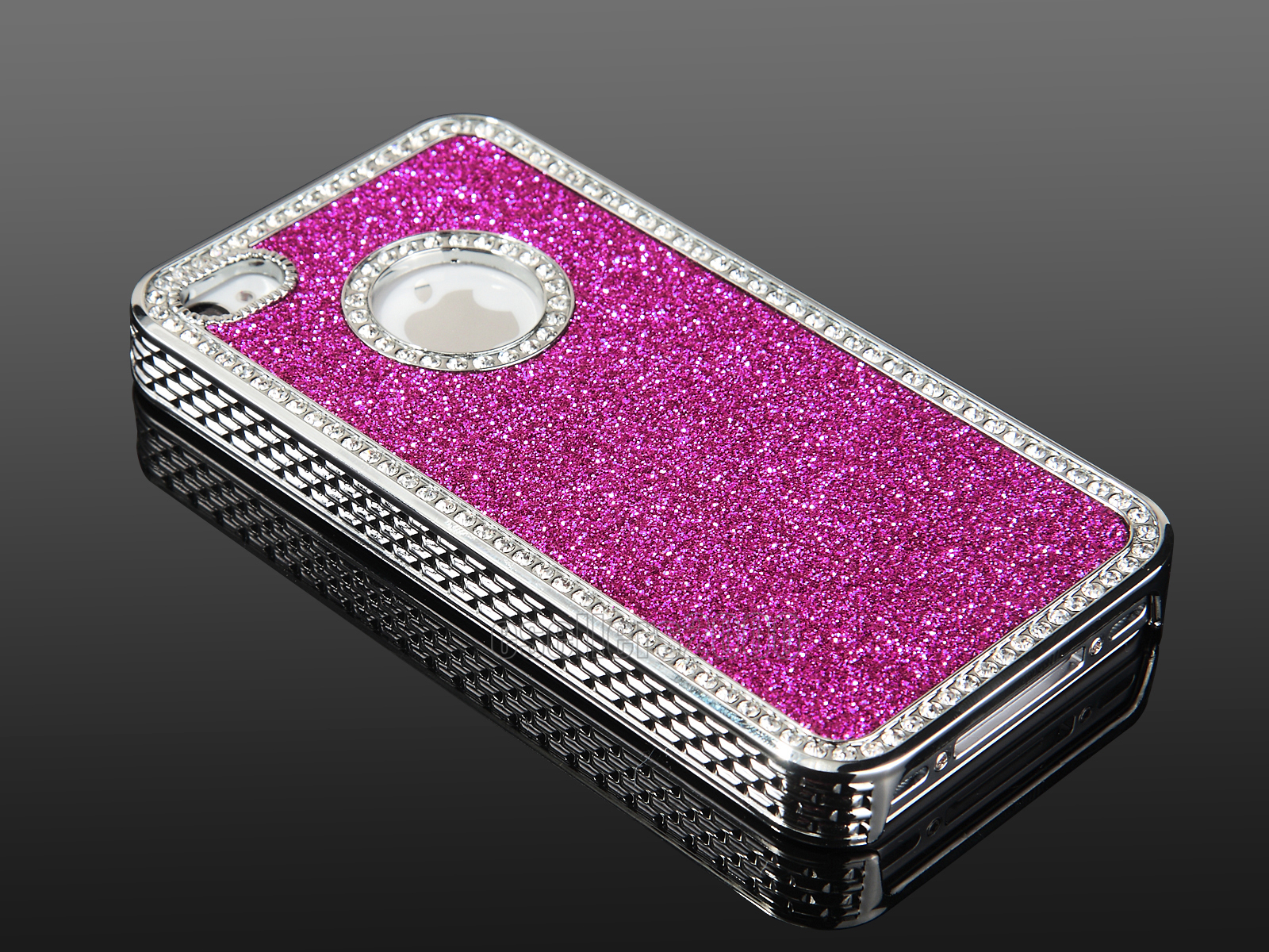For iPhone 4 4S Slim Aluminum Bling Steel Hard Cover Case w Screen Protector Pen