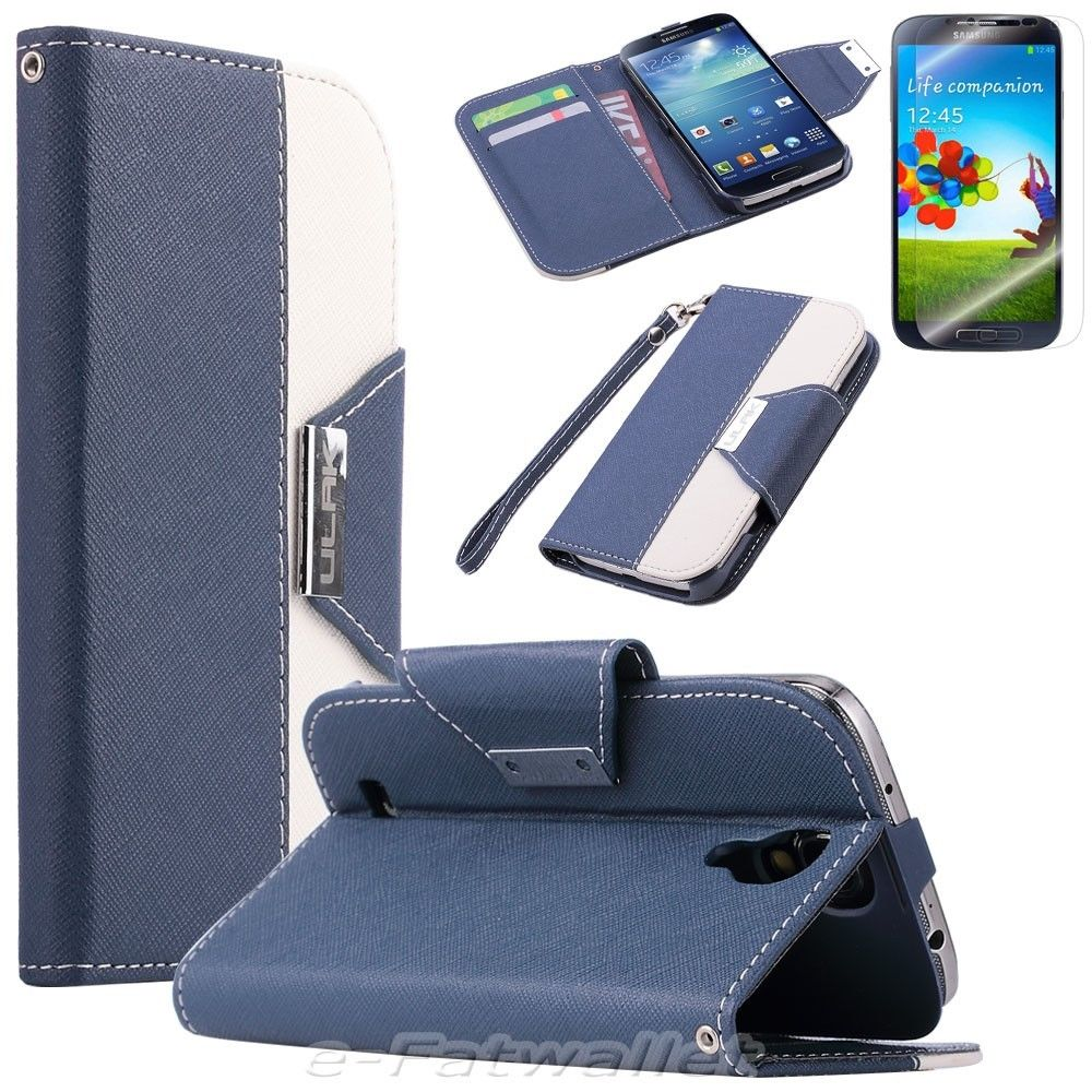 Stand Flip PU Leather Wallet Case Cover Smart Wake For SAMSUNG GALAXY S4  i9500
