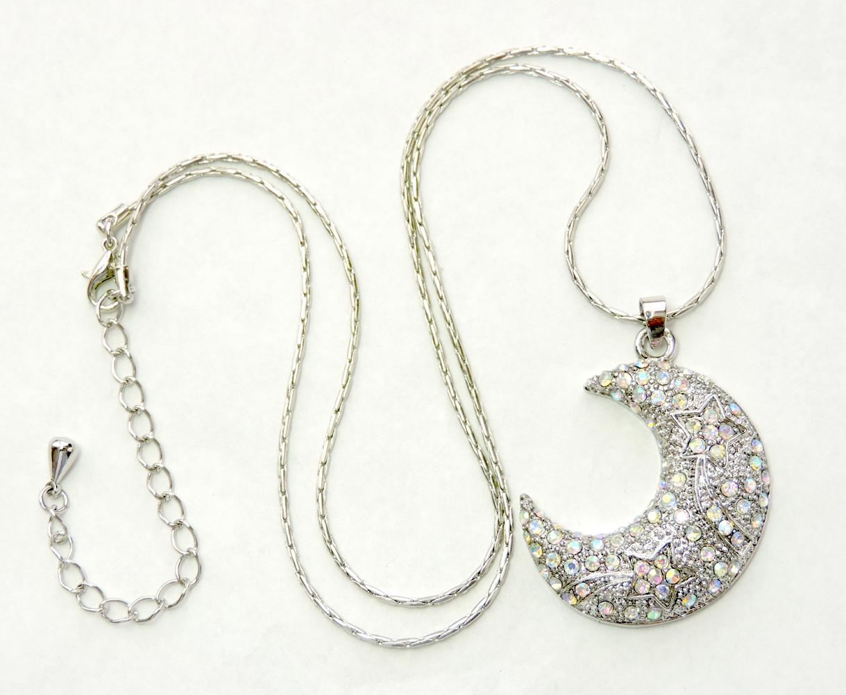 Moon Crescent Star Pendant Necklace