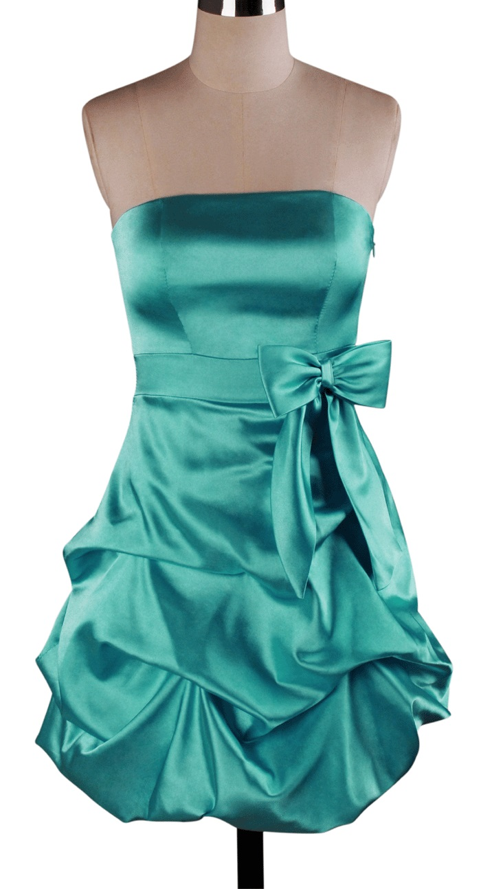 Pick up skirt bow padded bridesmaid wedding formal party for Pick up skirt wedding dresses