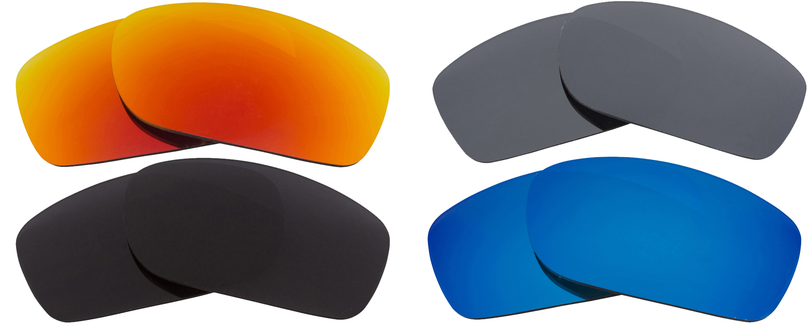 Seek Optics New Oakley FIVES SQUARED Polarized Black Red Silver Blue Replacement Lenses at Sears.com