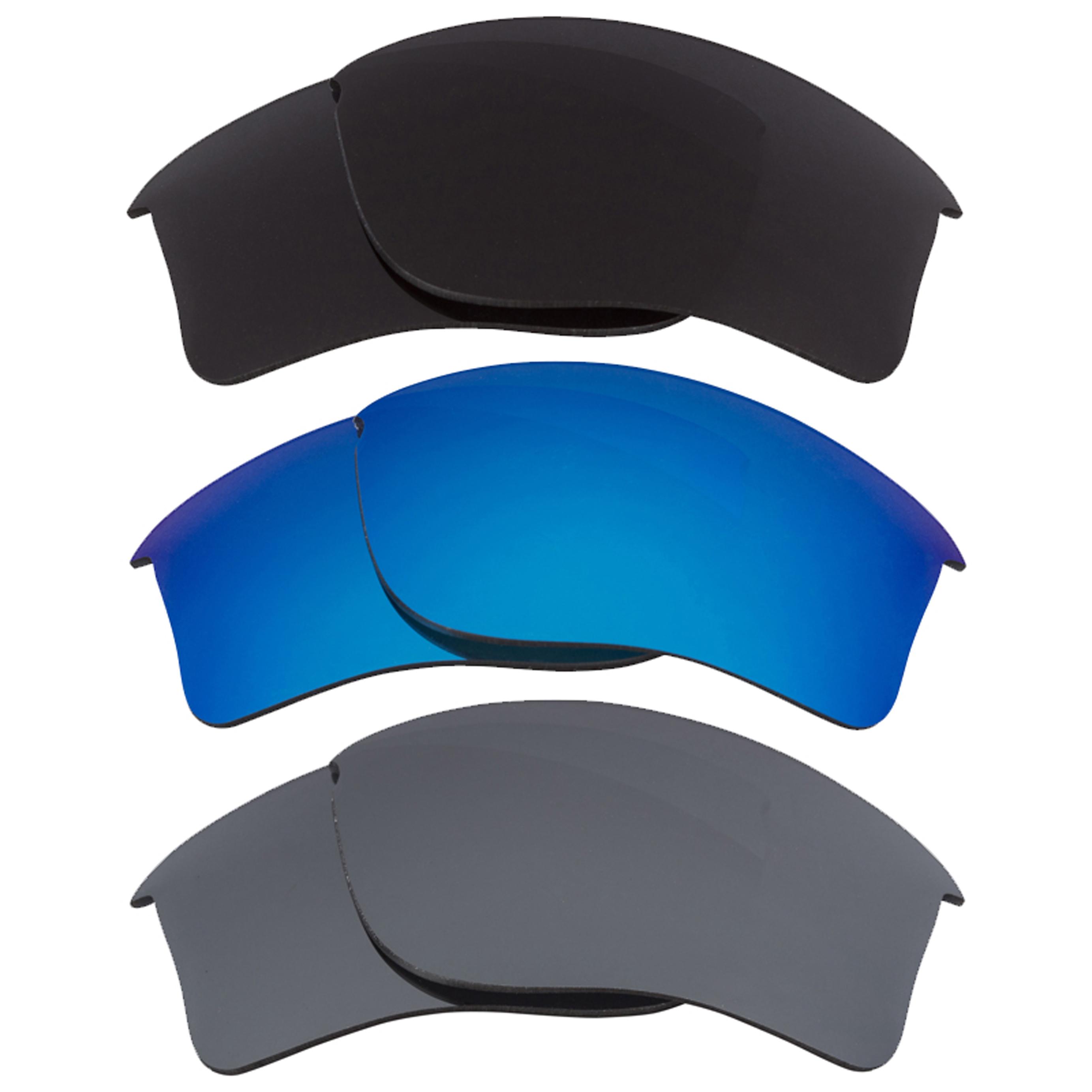 Seek Optics New Oakley FLAK JACKET XLJ Polarized Blue Black Mirror Gray Replacement Lenses at Sears.com