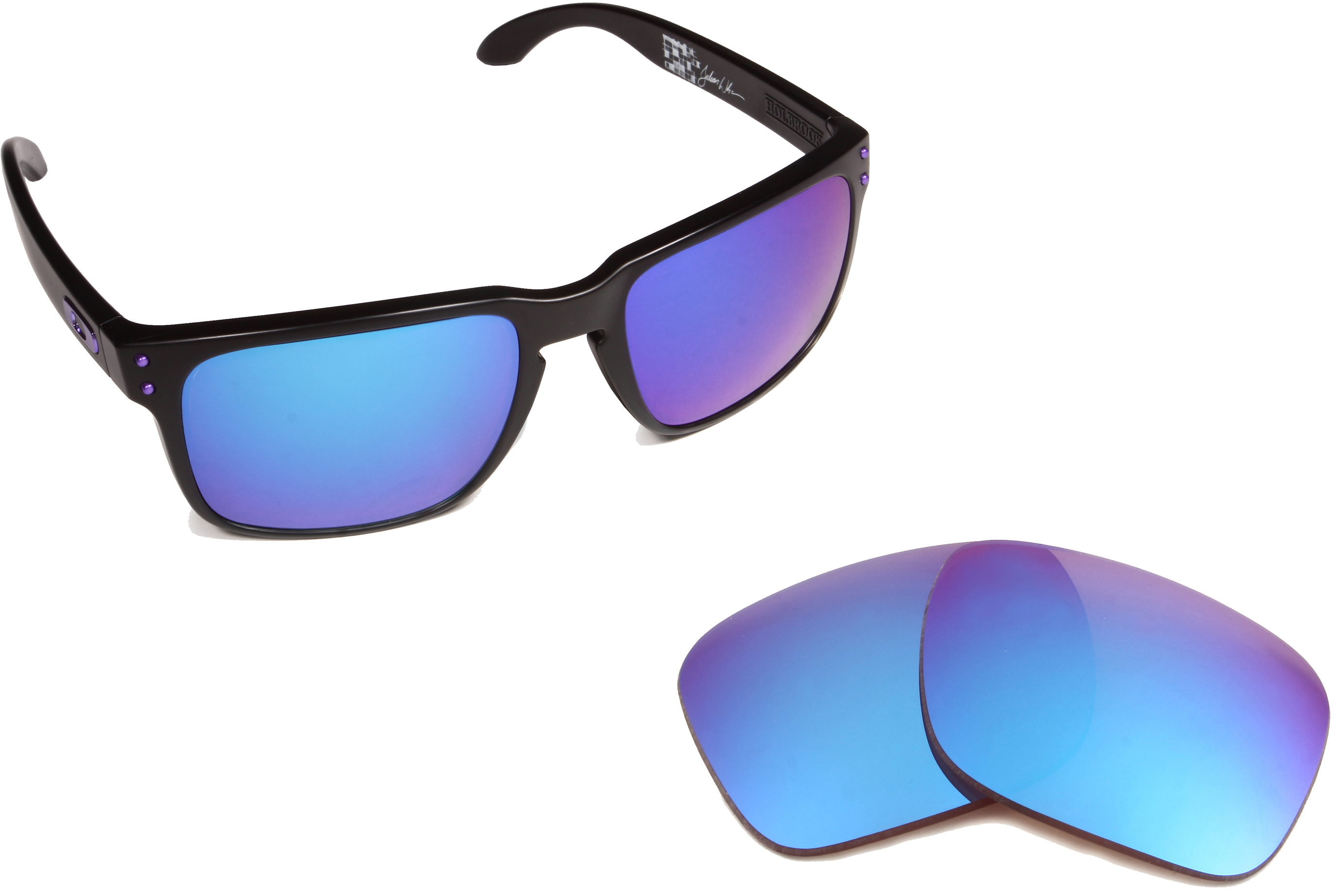 blue oakley holbrook rtz0  walleva replacement lenses oakley jawbreaker