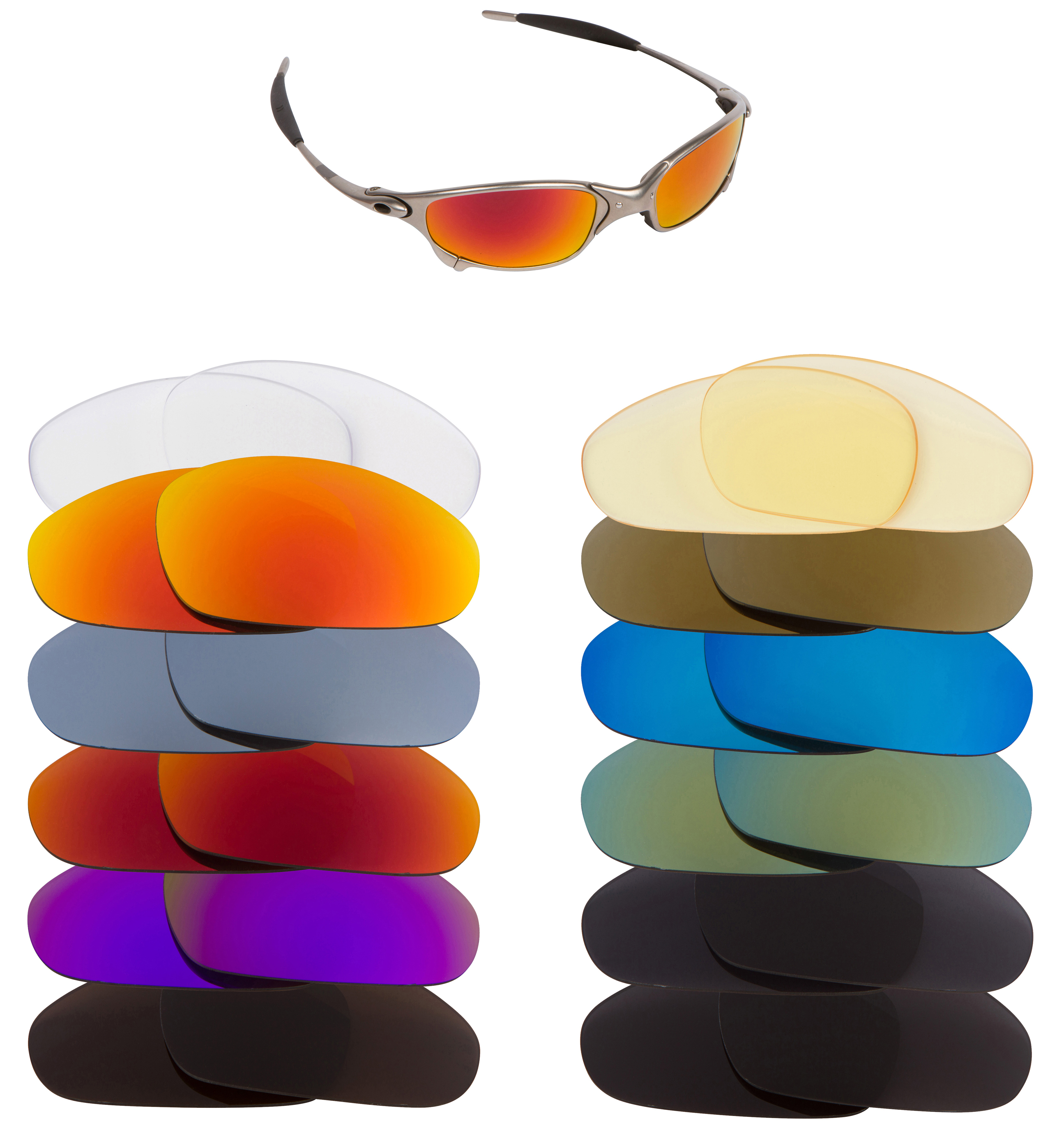 ebay oakley replacement lenses uf9w  Image is loading New-SEEK-OPTICS-Replacement-Lenses-for-Oakley-JULIET